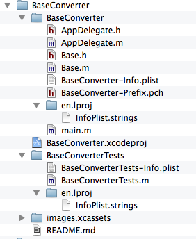 Project in Finder